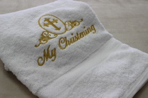 Christening towel - egyptian cotton