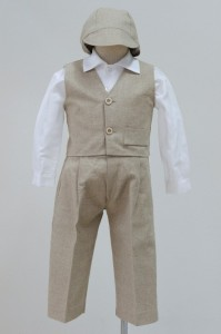 Linen 4pce Chris vest suit